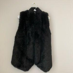 Black *faux* fur vest